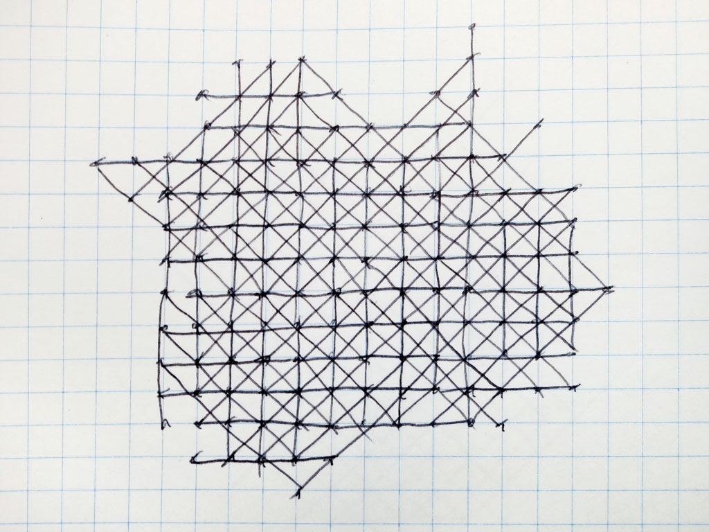 Claude Closky, 'Untitled (Solitaire)', 1991, ballpoint pen on notebook, 200 pages, 20 x 20 cm.